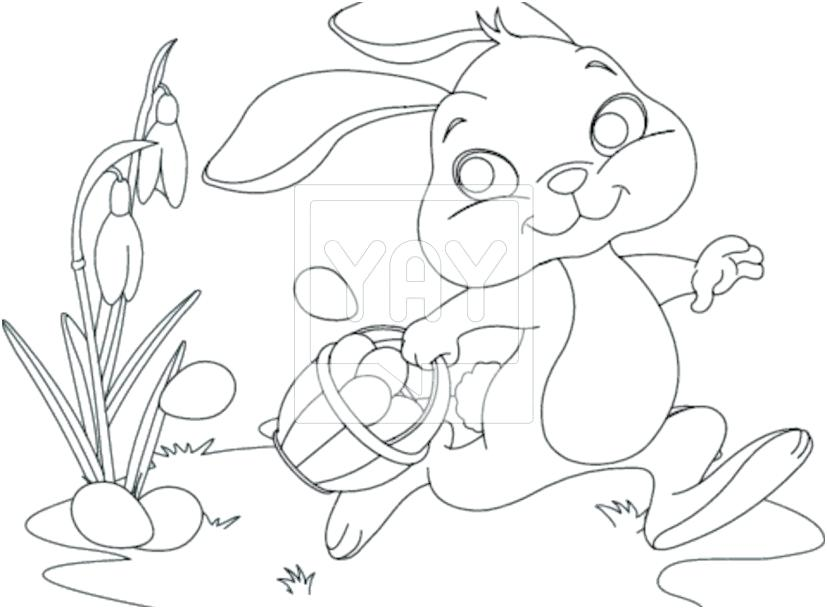 827x609 Coloring Pages Easter Bunny Eggs