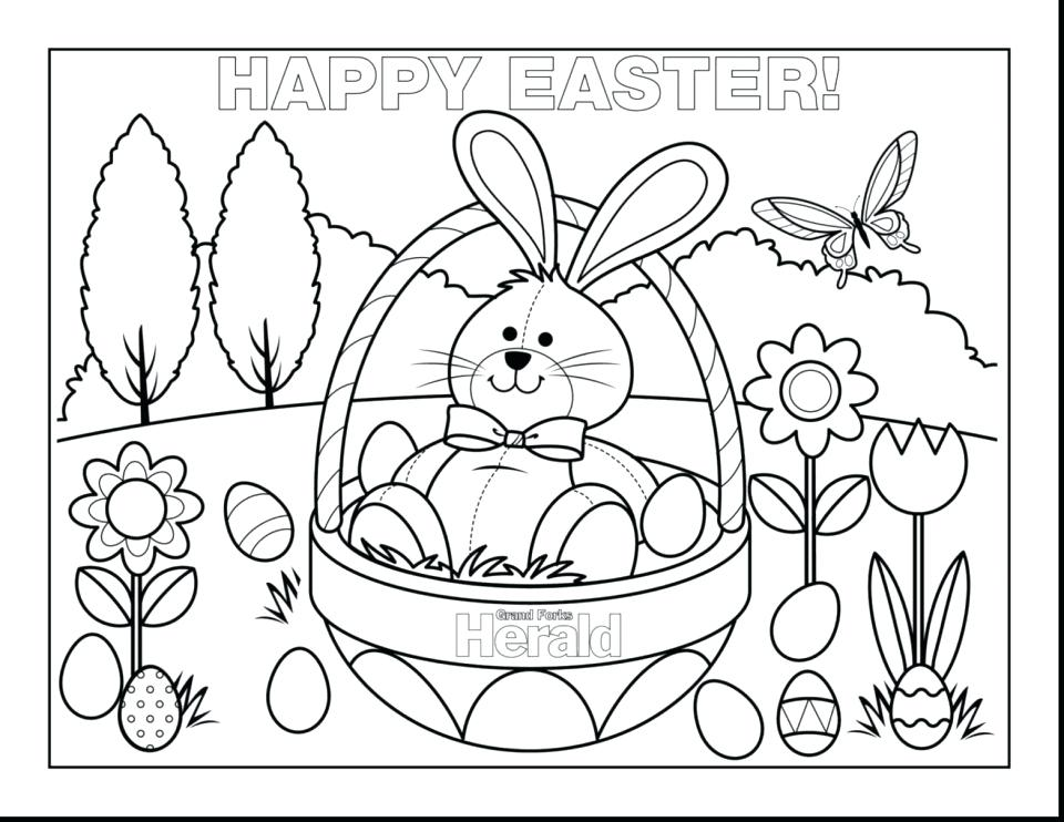 960x742 Coloring Pages Of Easter Eggs And Bunnies Printable Coloring Page