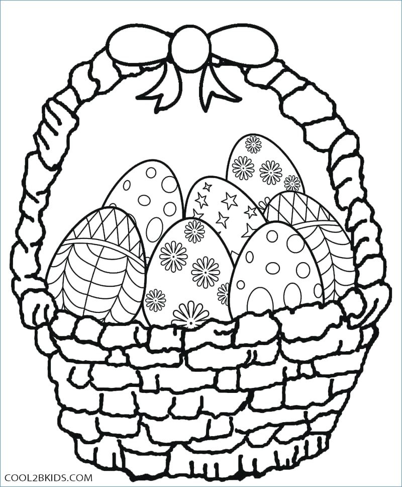 800x968 Cute Easter Bunny With Egg Basket Easter Coloring Pages
