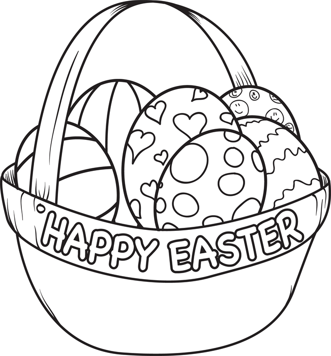651x700 Easter Basket Coloring Pages
