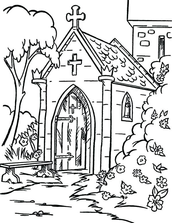 600x777 Church Christmas Coloring Pages