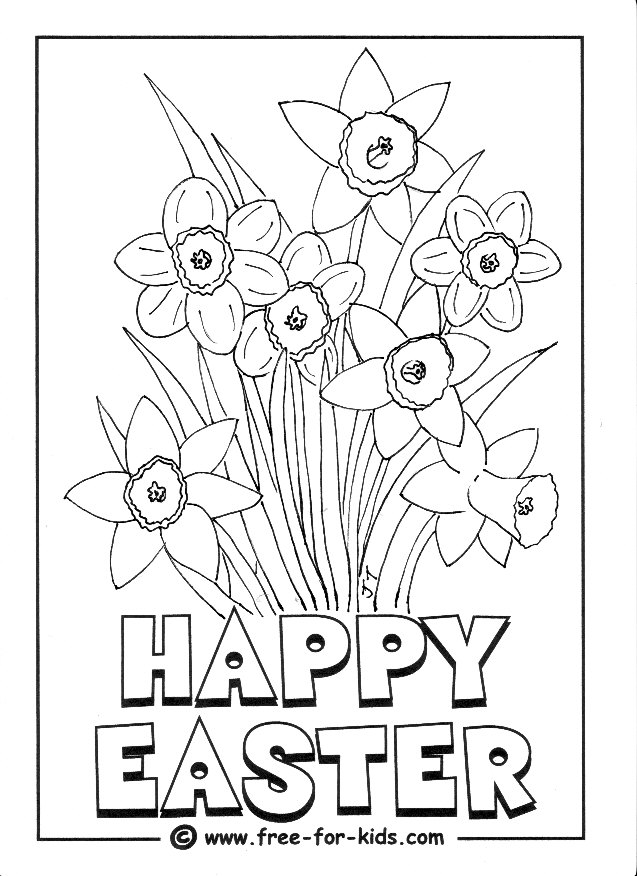 637x876 Easter Colouring Pages