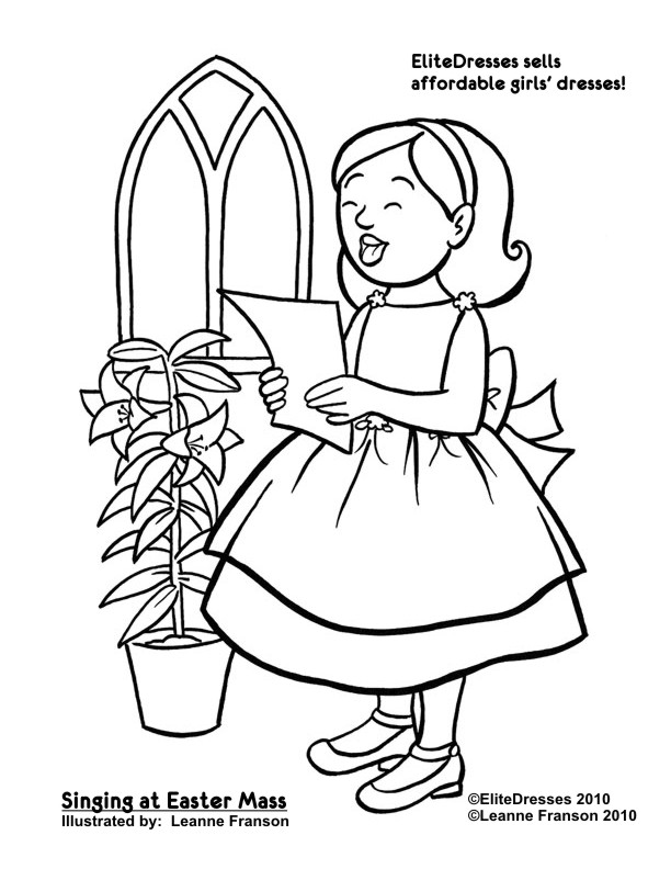612x792 Free Easter Coloring Pages