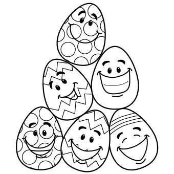 340x340 Free Printable Easter Egg Coloring Page Easter Egg Coloring