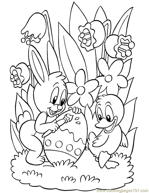 612x792 Chic And Creative Easter Coloring Pages Printable Adult Printables