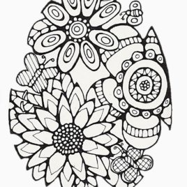 268x268 Easter Coloring Pages For Adults Az Coloring Pages Easter Coloring