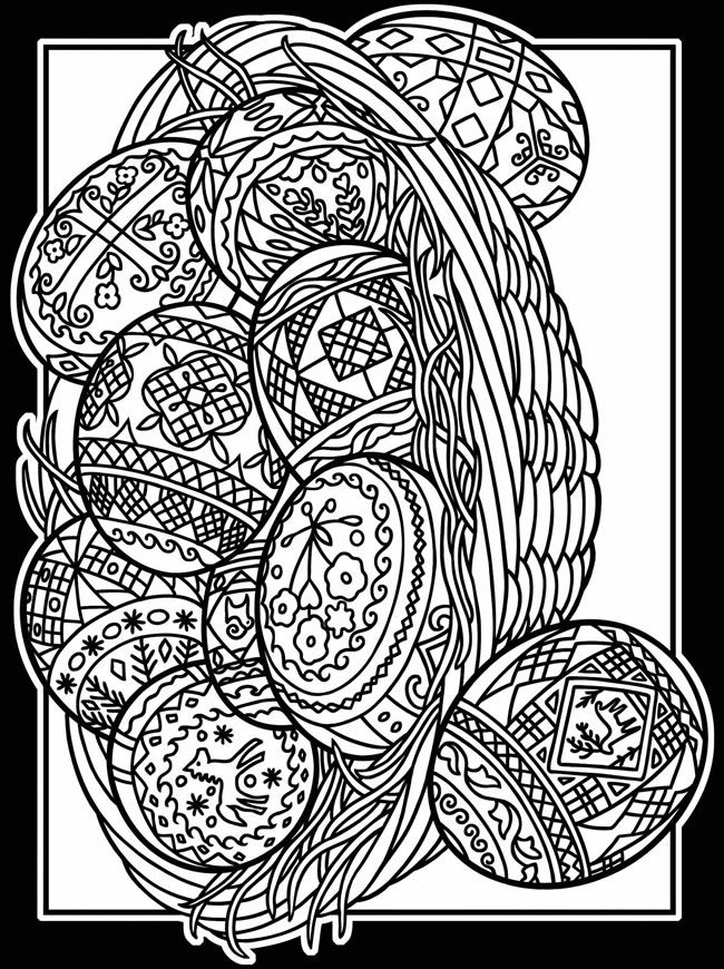 650x870 Easter Coloring Pages For Adults