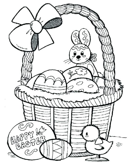 550x672 Easy Easter Coloring Pages Basket Printable Coloring Pages Easter