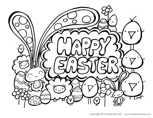 500x386 Cute Easter Bunny Coloring Pages Cute Bunny Coloring Pages