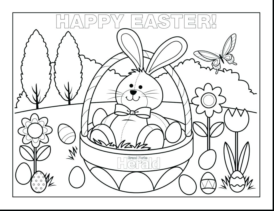 960x742 Cute Easter Coloring Pages Bunny Color Pages Cartoon Bunny