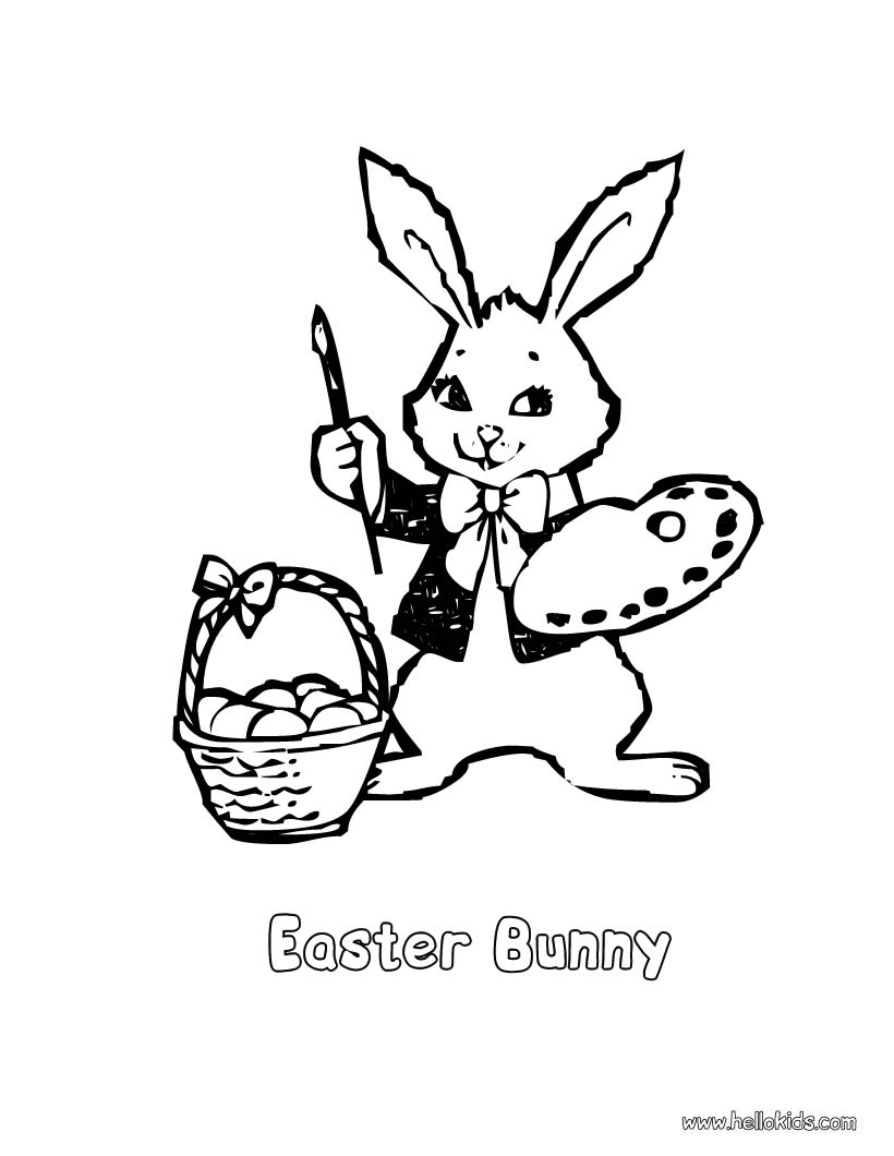 820x1060 Easter Bunny Coloring Pages