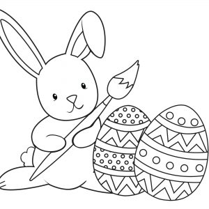 300x300 Easter Rabbit Coloring Pages Free Fresh Easter Bunny Coloring