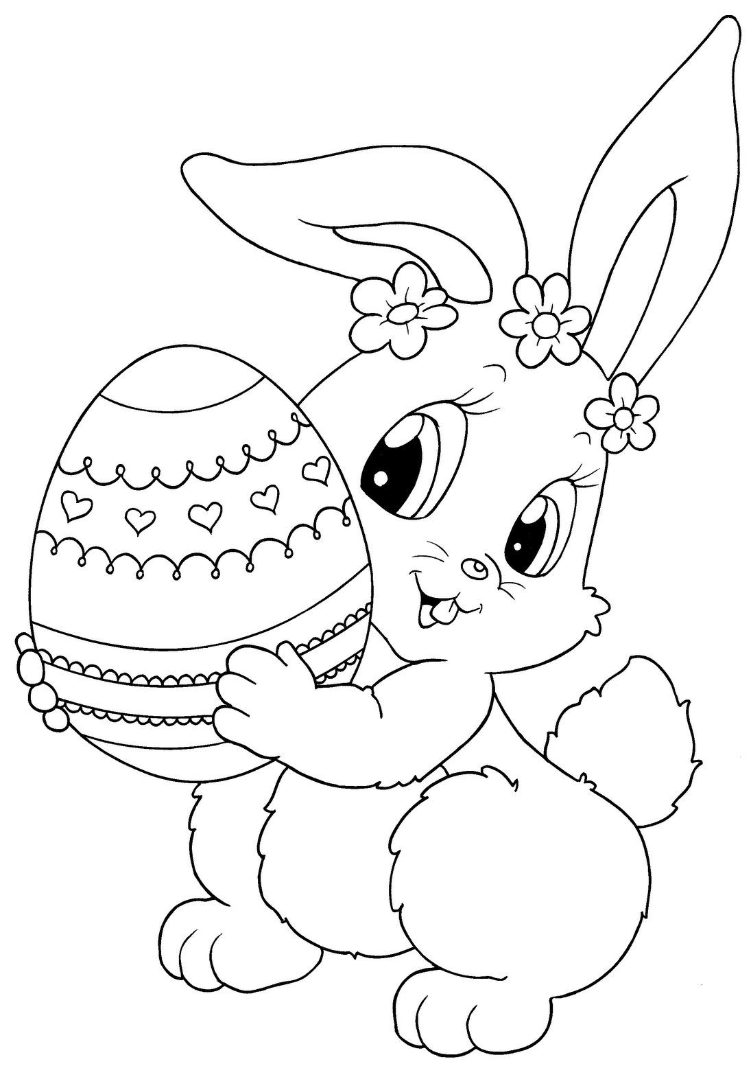 1095x1553 Top Free Printable Easter Bunny Coloring Pages Online Easter