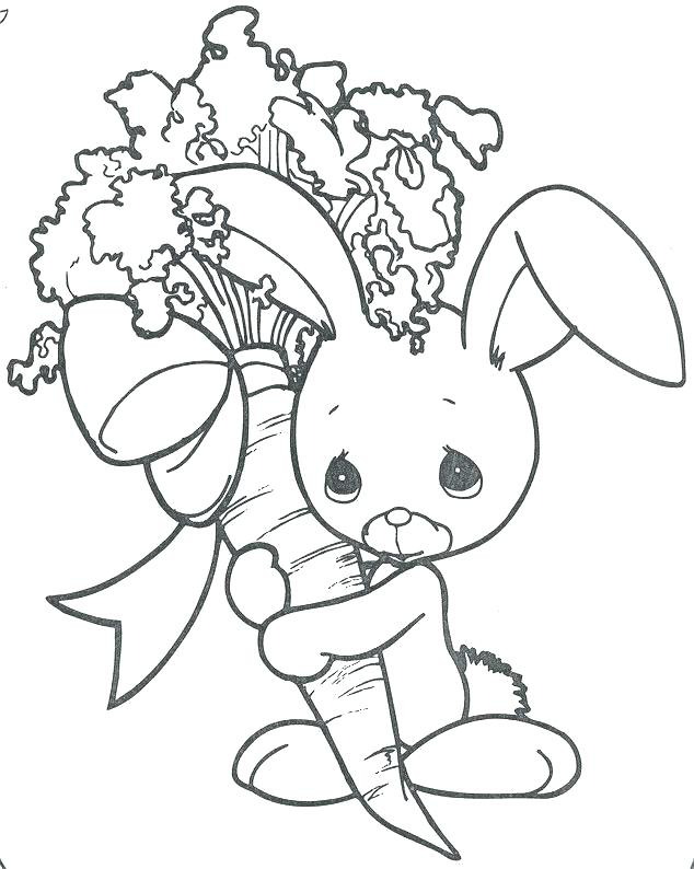 634x794 Bunny Color Page Printable Bunny Coloring Pages An Bunny Chick