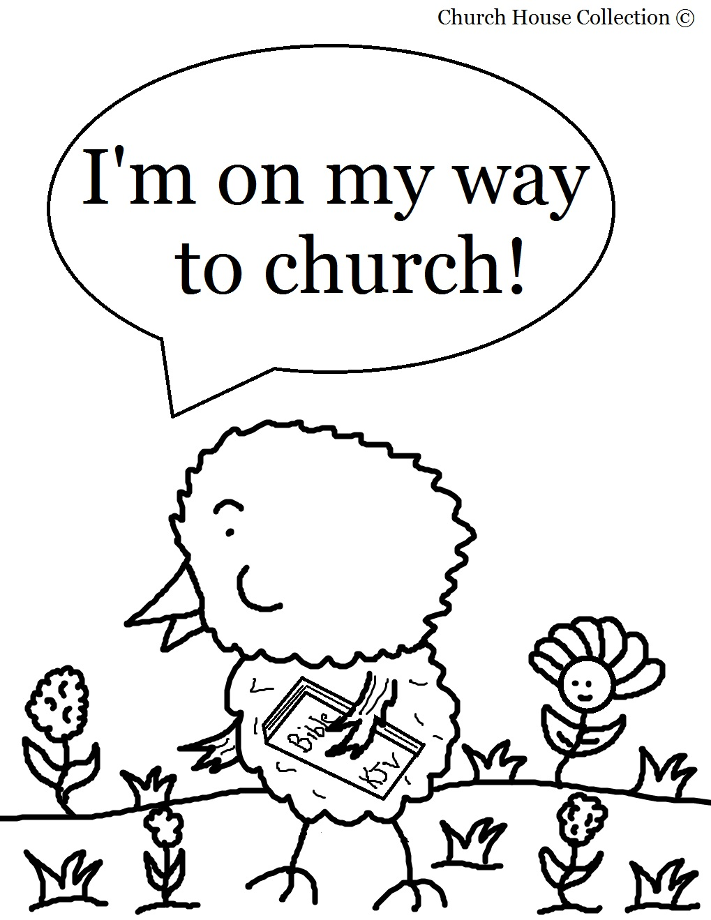 Easter Coloring Pages Church at GetDrawings com | Free for