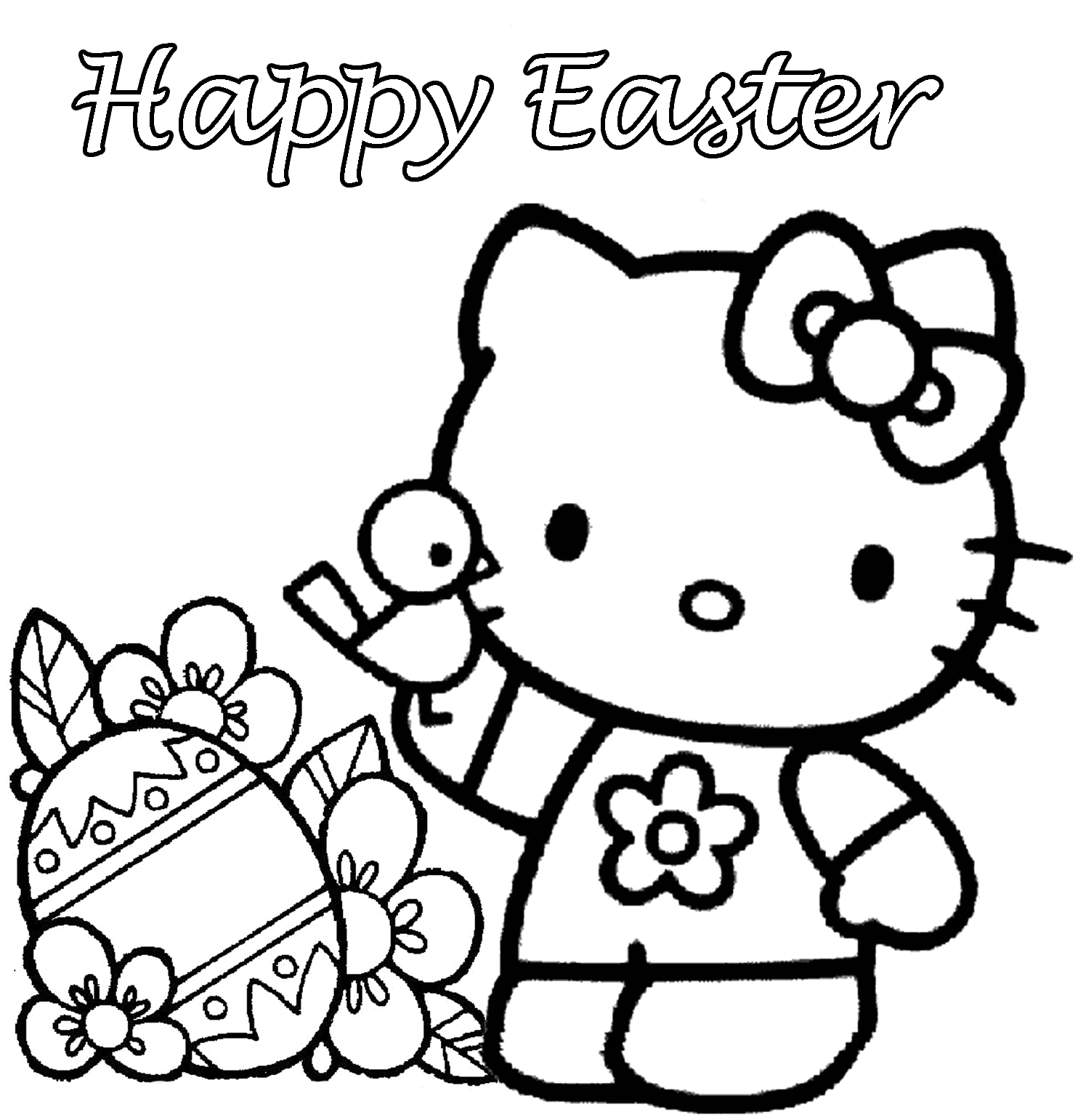 1495x1541 Happy Easter Coloring Pages Printable To Fancy Paint