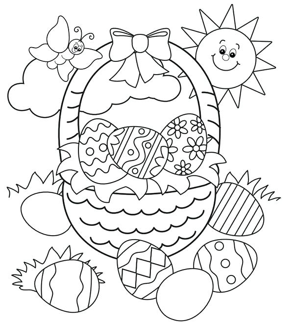 600x664 Easter Coloring Pages Printable