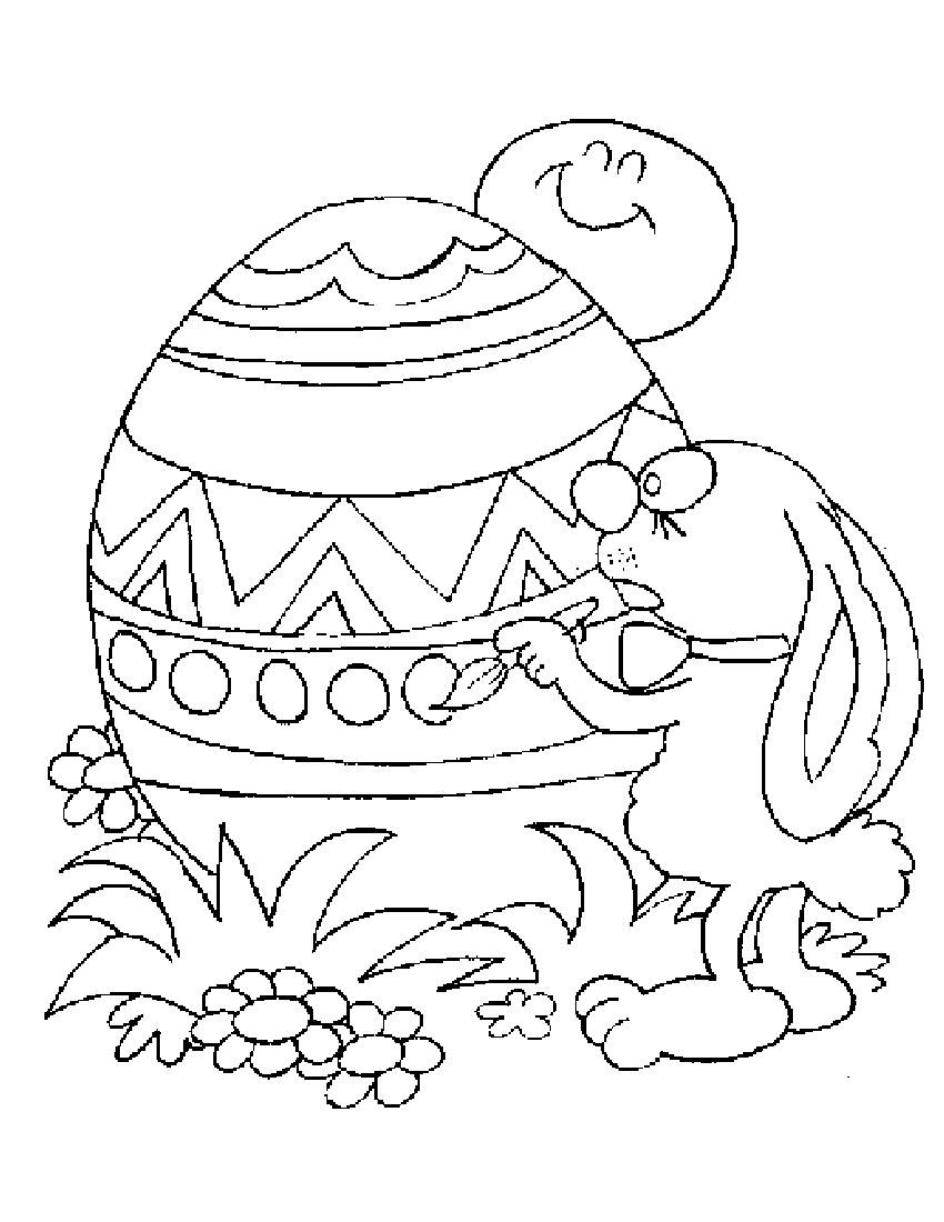 850x1100 Easter Coloring Pages For Childrens Printable For Free