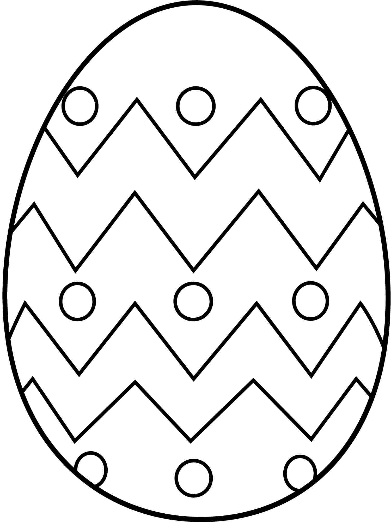 1500x2000 Easter Eggs Coloring Pages