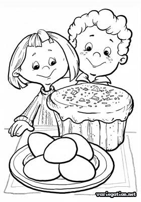 280x400 Easter Coloring Pages Children And Easter Cakes Coloring Pages