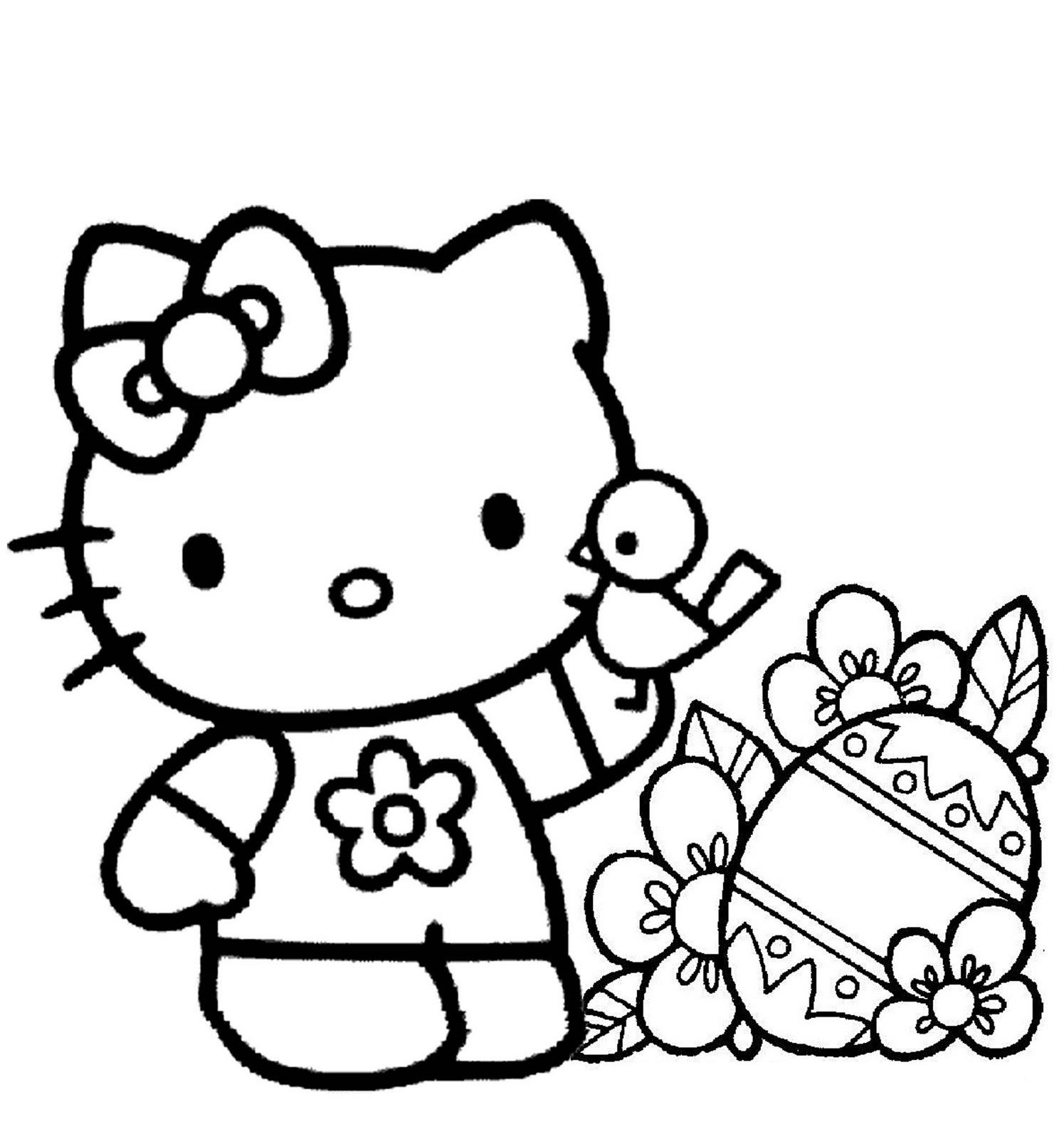 1495x1600 Free Printable Hello Kitty Coloring Pages For Kids