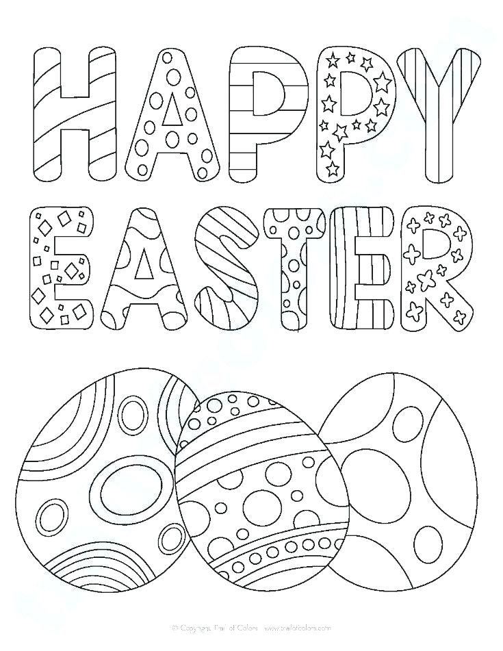 735x951 Preschool Easter Coloring Pages