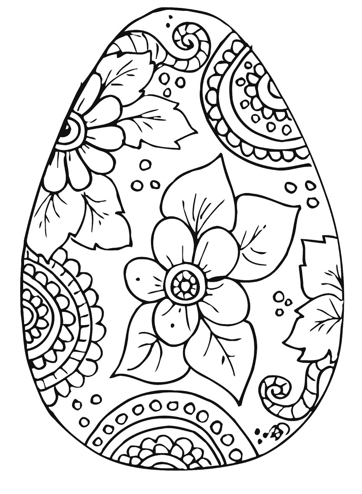 736x1003 Best Free Easter Eggs Coloring Pages Printable For Adults