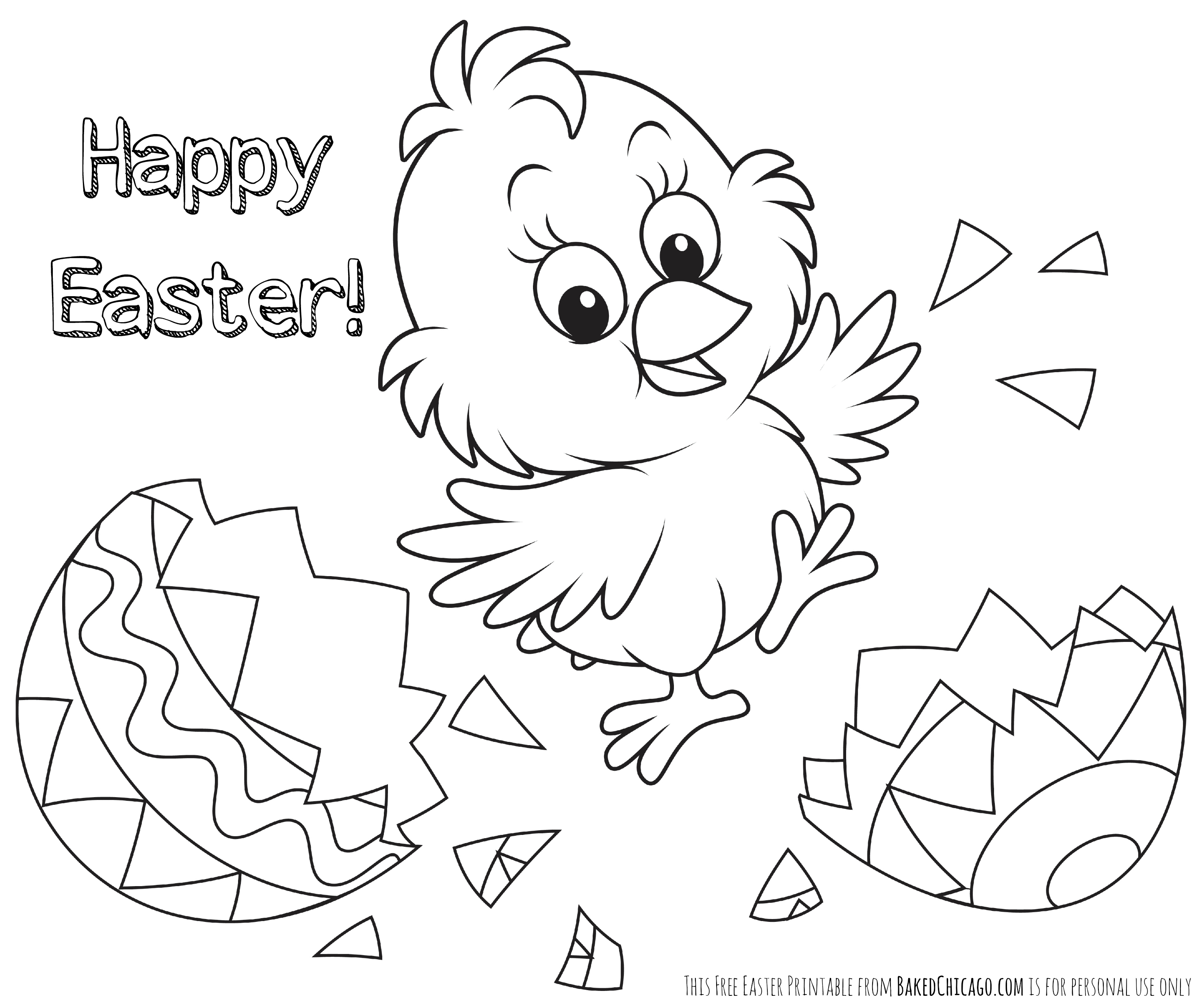 2959x2481 Easter Coloring Pages
