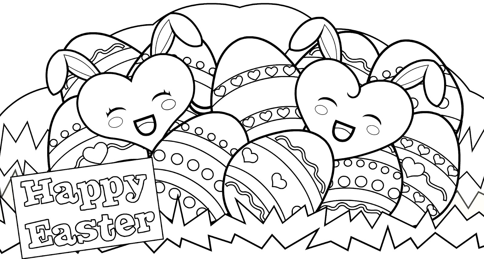 1600x857 Easter Coloring Pages Printable New Free Printable Easter Bunny