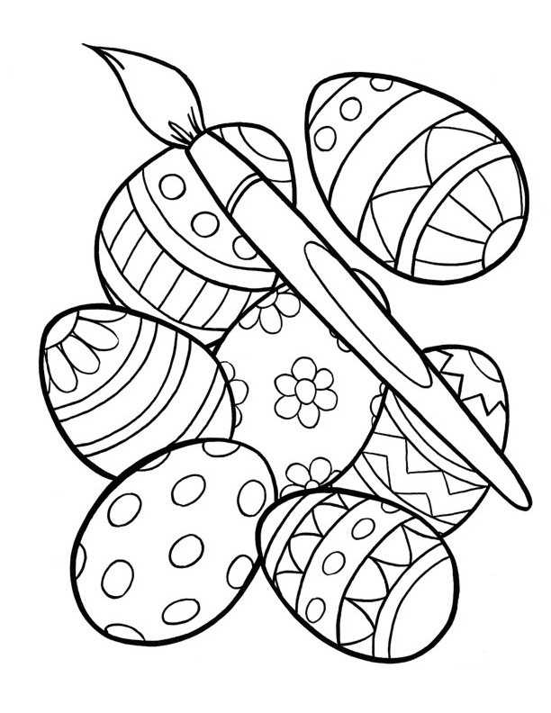 612x792 Easter Eggs Coloring Pages For Kids