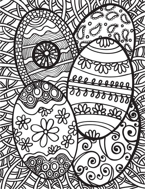 Easter Coloring Pages Hard