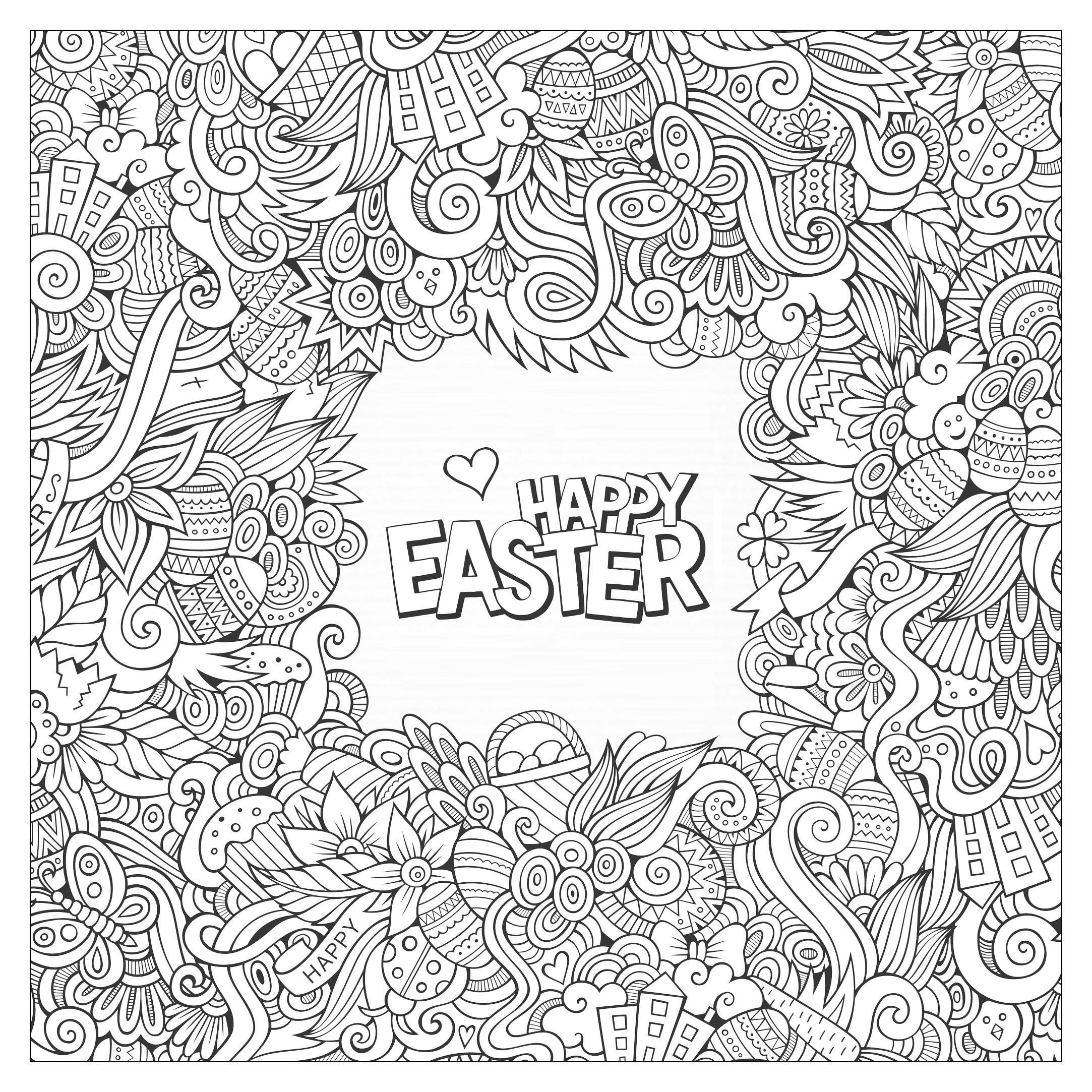 2166x2166 Easter Coloring Pages For Adults