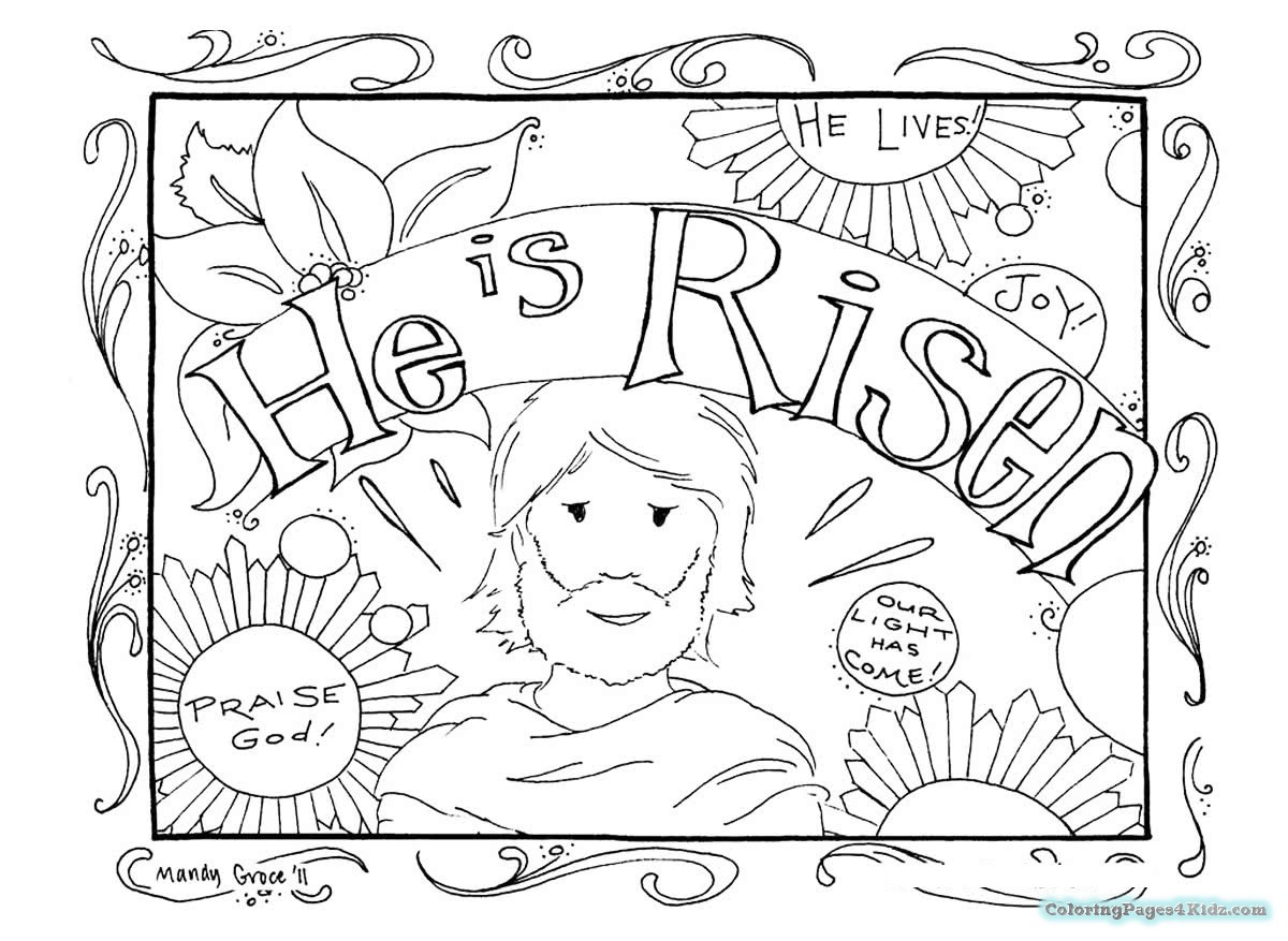 1200x877 Easter Egg Hunt Coloring Pages Religious Coloring Pages For Kids