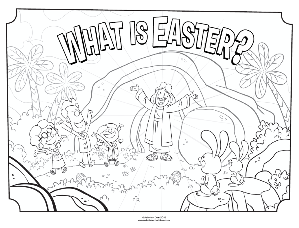 1024x783 What Is Easter Cover Coloring Page