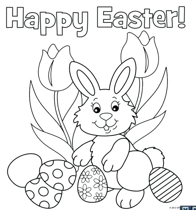 640x686 Easter Coloring Pages Printable