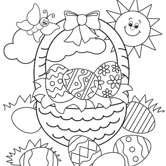 340x340 Easter Basket