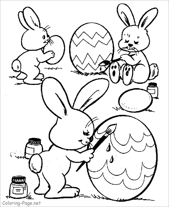 585x716 Bunny And Egg Coloring Pages New Easter Coloring Pages Free