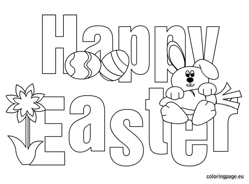 804x595 Free Happy Easter Coloring Pages Printable Pictures Of Bunny Eggs