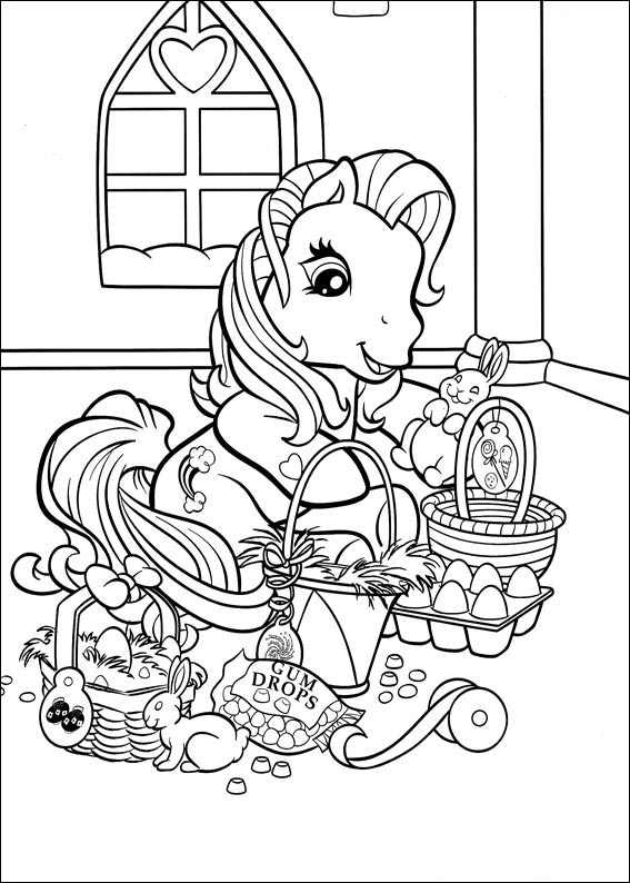567x794 My Little Pony Easter Coloring Page