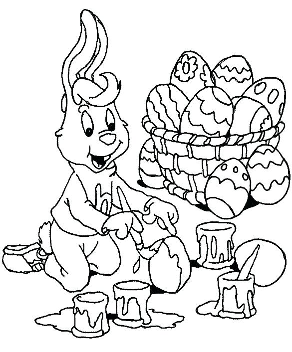 585x706 Easter Coloring Pages To Print Icontent