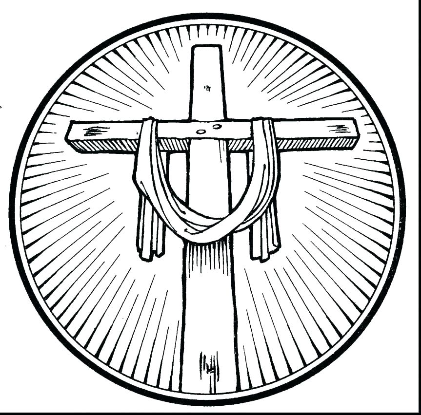 863x852 Cross Coloring Pages Printable On The Cross Coloring Page Cross