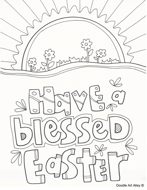 618x800 Easter Coloring Pages