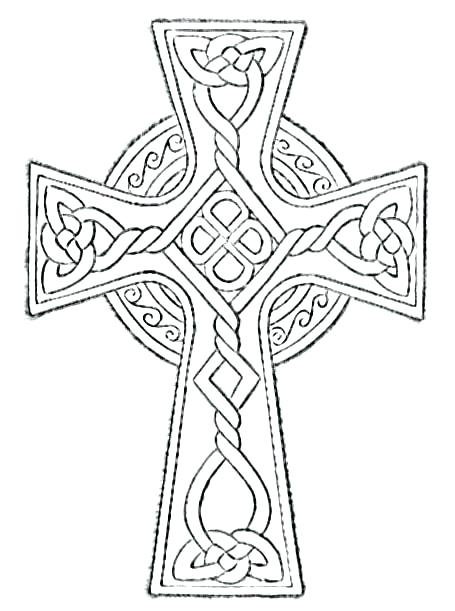 455x611 Easter Cross Coloring Page S Easter Religious Colouring Pages
