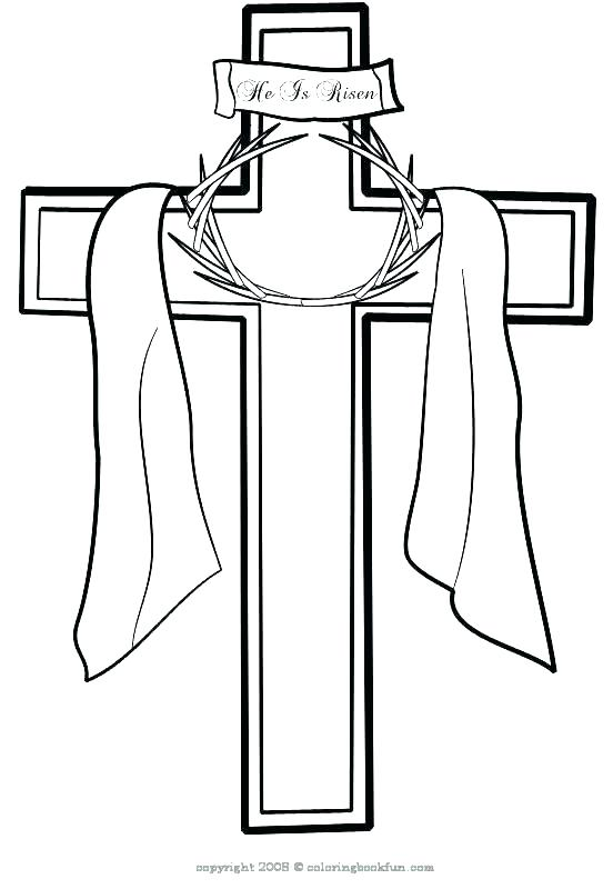 552x800 Cross Coloring Pictures