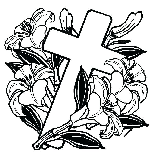 600x600 Cross Color Pages Christian Adult Coloring Cross Pages Pictures
