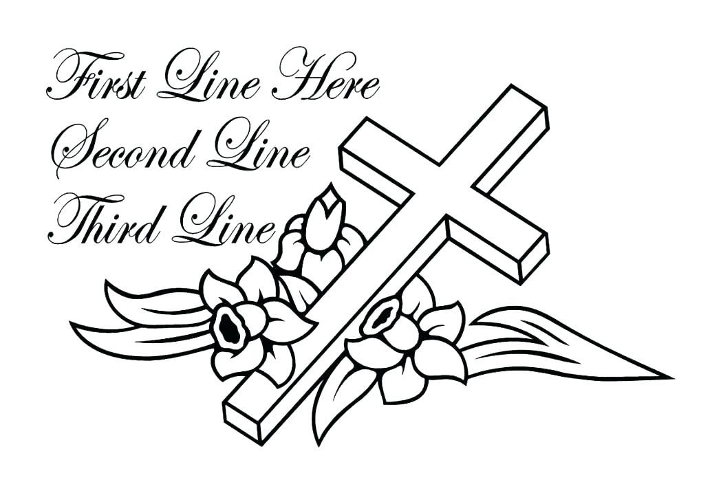 1048x717 Cross Coloring Pictures Free Printable Cross Coloring Pages Free