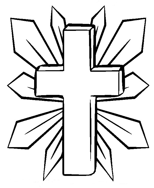 600x731 Cross Coloring Pages Printable Printable Cross Coloring Pages