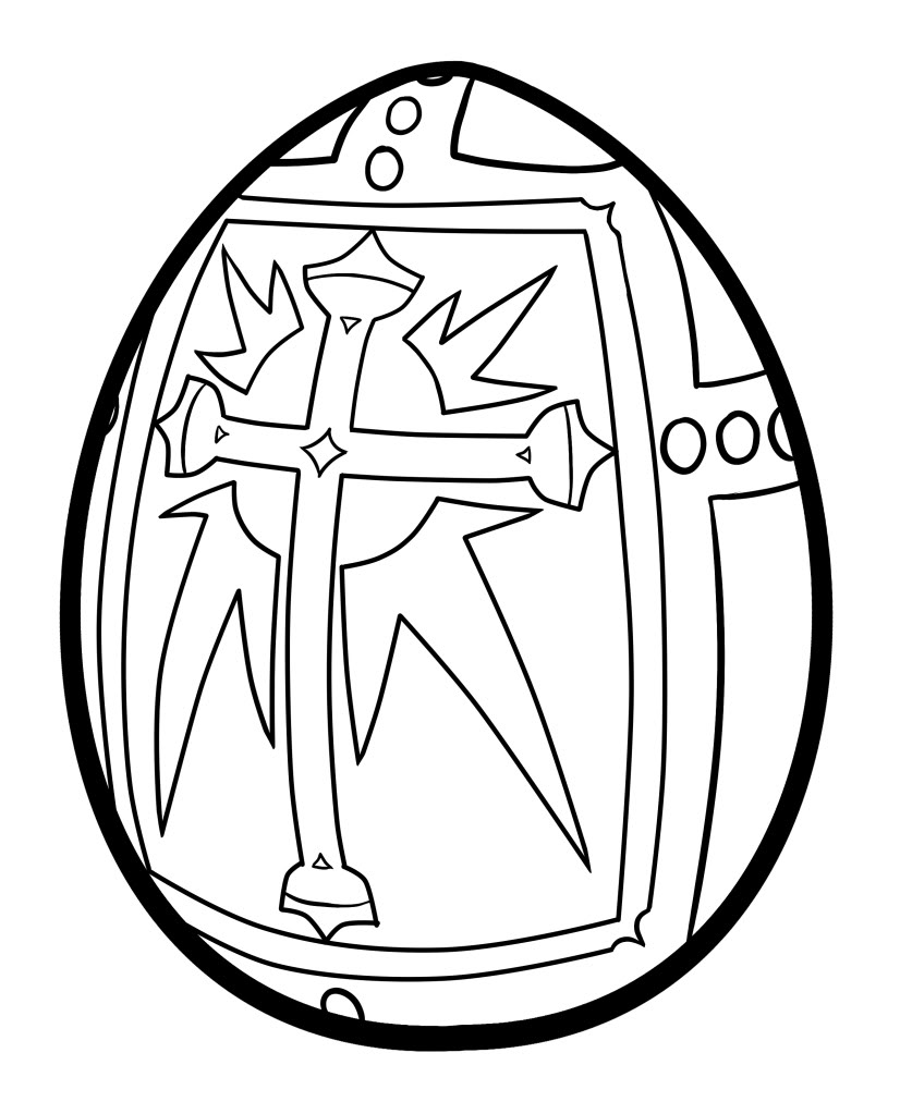 826x1023 Easter Cross Coloring Pages