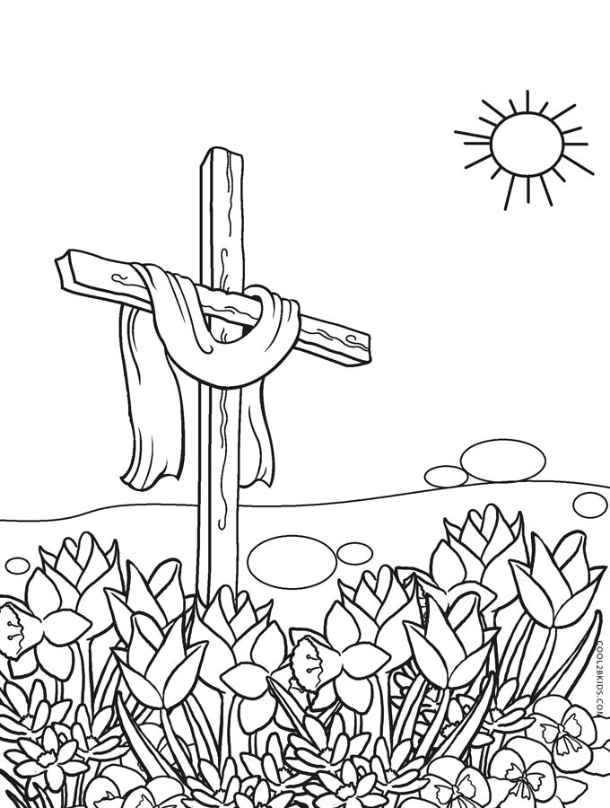 Easter Cross Coloring Pages Printable At Getdrawings Free Download