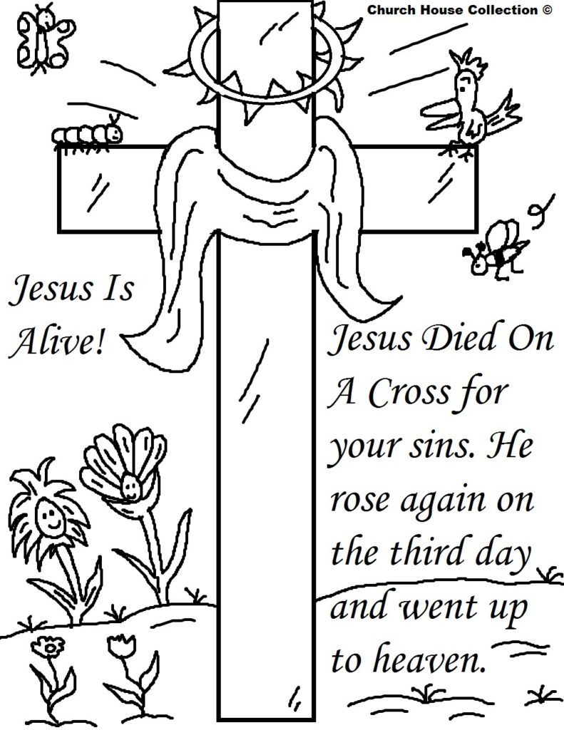 791x1024 Easter Cross Coloring Pages Religious Free Activity Printables